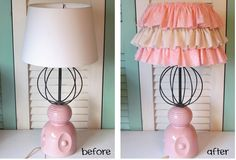 Rustic Living: DIY Girl Nursery Lamp
