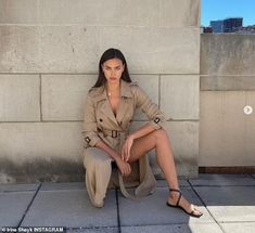 Irina Shayk takes daughter Lea de Seine and their dog for a walk in NYC | Daily Mail Online Most Beautiful, Beautiful Women, Irina Shayk, Female Models, Supermodels, Military Jacket, Pin Up, Boss, Daughter