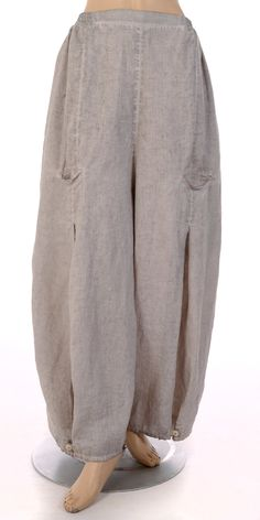 "Barbara Speer Natural ""Old Dye"" Linen Tulip Trouser - Barbara Speer from idaretobe.com UK"