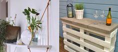 4 coole DIY Gartenmöbel, die du einfach selber bauen kannst - Bar aus Paletten *** Great DIY Garden Furniture Ideas