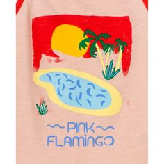 Tshirt paysage « flamingo » rose Brotes | La Redoute Cool Pools, Pink Flamingos, Reusable Tote Bags, Pool Fun, Products, Pink, Sprouts, Suspenders, Landscape