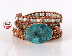 2b9c8314 You're The Best! Deals Just For You Unique Wrap Turquoise Jasper Stone  Bracelet