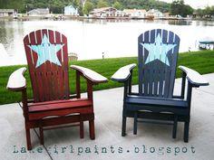 Patriotic Adirondack Chairs #DIY Project