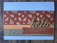 #462 Tic Tac Toe: Pumpkin Spice...right side vertical. Kept it simple by using X7272D Pumpkin Spice PML cards, a strip of Paprika & Z3862 Hugs & Hello Wood Sentiments, (retired). Tic Tac Toe, Keep It Simple, Dares, Pumpkin Spice, Hugs, Card Making, Stamp, Scrapbook, Create