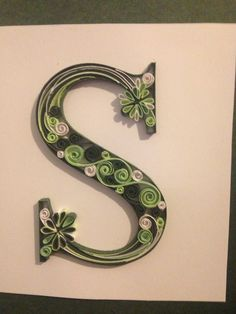 Letter s quilling by Amy Creasy