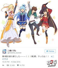 """Аниме """"Этот замечательный мир..."""" уже подтвердило второй сезон!"""