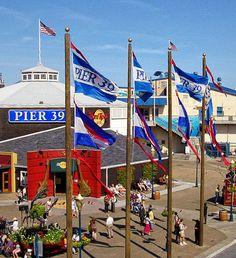 Pier 39 - San Francisco  CA......shopping, food, view of Alcatraz, seals
