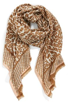 Love the leopard print on this Tory Burch scarf.