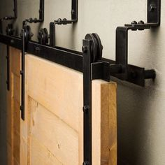The Bypass sliding barn door hardware is efficient in tight spaces, offering a l. The Bypass sliding barn door hardware is efficient in tight spaces, offering a l. Bypass Barn Door Hardware, Sliding Barn Door Hardware, Sliding Doors, Barn Door Closet, The Doors, Small Doors, Door Kits, Interior Barn Doors, Door Design