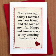 handmade second anniversary card by jenny arnott cards & gifts | notonthehighstreet.com