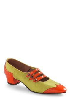 Vintage Reserve Mona Heel  This a ridiculously awesome, citrus colored, vintage shoe.