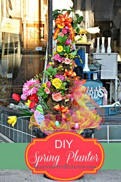 Serendipity Refined: Brightly Colored Spring Urn Planter Decor