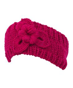 Look what I found on #zulily! Fuchsia Floral Crochet Head Wrap by Magid #zulilyfinds