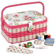 Cath Kidston - Trailing Floral Bumper Sewing Basket