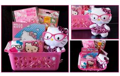 Hello Kitty basket created by Bailey's Basket Shop!