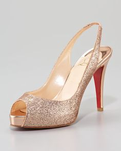 Why You Cannot Wear Cheap Wedding Shoes (and a few of our favorite designer wedding shoes) SO sparkly – Christian Louboutin No prive $845 at Neiman Marcus