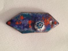 experimenting with colours & crackle enamels