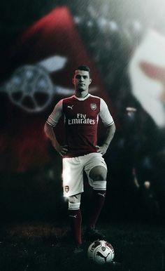 Xhaka. Arsenal. Lock screen.
