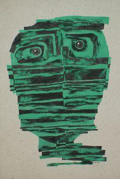 ''Green silence'' 2005, acrylic on canvas / 100 × 70