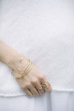 Hammered Alexis Russel Bangles