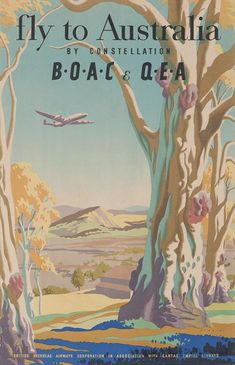Australia vintage travel posters fly to australia, australia travel, voya. Kunst Poster, Poster S, Poster Prints, Fly To Australia, Australia Travel, Coast Australia, Travel Ads, Airline Travel, Great Barrier Reef