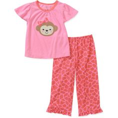 Child of Mine by Carters Baby Girls' 2 Piece Short Sleeve PJ Set
