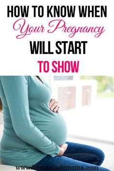In early pregnancy most mom's to be want to know the answer to when do you start to show during pregnancy. Here is a list of factors to help you know when this will happen. Early Pregnancy Signs, Second Pregnancy, Pregnancy Tips, Pregnant Mom, Getting Pregnant, Kids Fever, Baby Must Haves, Kids Behavior, Expecting Baby