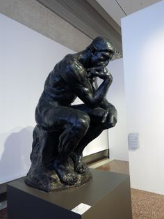 "Auguste Rodin ""The Thinker"" (Ca' Pesaro, Venice) Polished Plaster cast Rodin The Thinker, Polished Plaster, Plaster Cast, Gallery Of Modern Art, Auguste Rodin, Grand Canal, Klimt, Baroque, Venice"