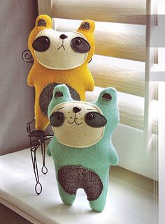 cute softies from the book 'Stash Happy Felt'