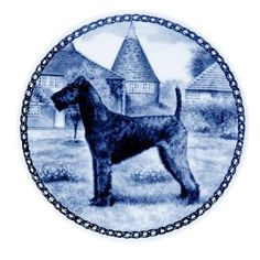 Irish Terrier / Lekven Design Dog Plate 19.5 cm /7.61 inches Made in Denmark NEW with certificate of origin PLATE