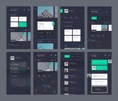 UI exercises #3/100 Recruitment App | #ui #ux #userexperience #website #webdesign #design #minimal #minimalism #art #white #orange #blue #travel #map #ecommerce #fashion