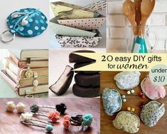 Handmade Gifts & Wrap Ideas : 20 easy DIY gifts for women for under $10  good list to have on hand when you n