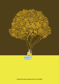Cartaz: Pessoas descansam sob as árvores: http://poro.redezero.org/cartazes/cartaz-pessoas-descansam-sob-as-arvores/