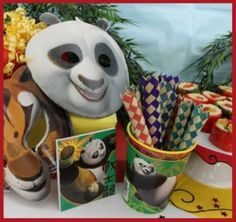 """Kung fu Panda Bday. Love the Candy Sushi and """"finger traps"""""""