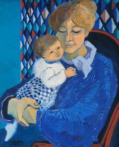 """Claudia Williams (Welsh, born 1933) """"Mother in Blue"""""""