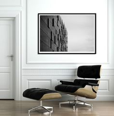 Large Print up to 40x30 Abstract Urban Print. Black and by BAUHAUZ
