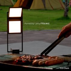 With the LG Chem OLED light, spend a delightful night with your loved ones by having a lovely outdoor summer barbecue. www.lgoledlight.com #LGChem #OLED #light #portable #barbecue #camping