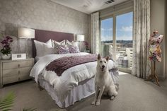Landsdowne by Shea Homes- Chic Master Bedroom with the most adorable model (dog not included)