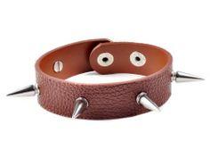 PU Leather Silvery Tone Spike Rivet Goth Punk Bracelet Cuff imixlot. $4.99. Rivet Spike Studded PU Leather Wristband Bracelet Cuff Total Length: App 22.5cm Width: App 2.1cm Rivet Stud: App 1.9*0.7cm