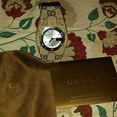 Gucci watch Authentic pre owned gucci canvas watch well taken cared of no major Damage one small scratch on Dial but that's it and no box only watch and what's pictured Gucci Accessories Watches