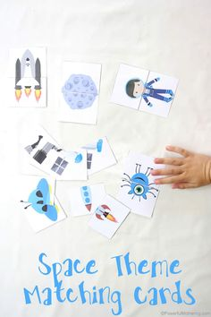 use these space themed matching cards as talking points to learn about things in space!