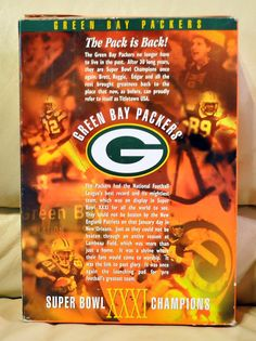 Green Bay Packers WHEATIES Super Bowl Edition Box w/o cereal XXXI 1997
