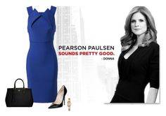 Donna Paulsen by juhalves on Polyvore featuring polyvore, fashion, style, Roland Mouret, Jimmy Choo, Prada, Seiko and clothing