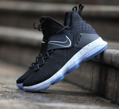 f9ec340ab8f2 The Nike LeBron 14 Black Ice is showcased in a detailed look. Find it at select  Nike stores on January