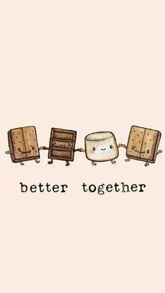 Sandwich chocolate marshmallows better together, iPhone cellphone wallpaper background lock screen s'more graham cracker Cute Food Wallpaper, Kawaii Wallpaper, Cute Wallpaper Backgrounds, Wallpaper Iphone Cute, Cute Cartoon Wallpapers, Phone Backgrounds, Wallpaper Wallpapers, Cellphone Wallpaper, Animal Wallpaper