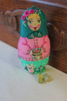 Matryoshka  Easter Babushka Hand by TheSnowQueensGarden on Etsy, $27.50