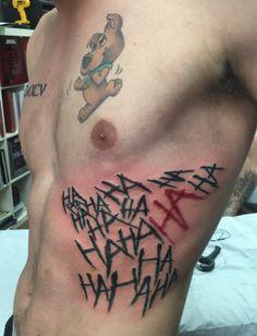 Newest and best tattoo. #Joker #Hahaha