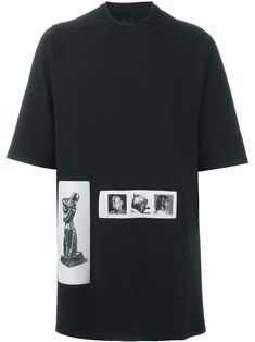 Rick Owens DRKSHDW photo patch oversized T-shirt