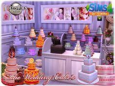 Wedding cake at Jomsims Creations via Sims 4 Updates