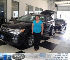https://flic.kr/p/v4aPLX | #HappyAnniversary to Maria Ramirez on your 2010 #Ford #Edge from Carlos Gonzalez at Fenton Honda of Longview! | www.fentonhondaoflongview.com/?utm_source=Flickr&utm_...